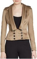 Burberry Prorsum Cotton Peplum Jacket - Lyst