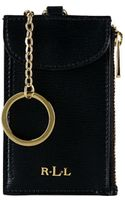 Lauren by Ralph Lauren Tate Leather Card Key Chain - Lyst