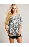 Free People We The Free You So Fancy Printed Tee - Lyst