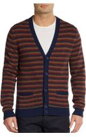 Marc By Marc Jacobs Finsbury Merino Wool Striped Cardigan - Lyst