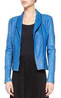 Elie Tahari Yasmine Washed Leather Jacket - Lyst