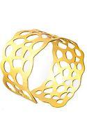 Kasturjewels Bubble Gold Plated Cuff - Lyst