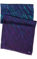 Calvin Klein Ombre Paint Stroke Silk Scarf - Lyst