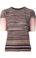 Missoni Zig Zag Crochet Knit Sweater - Lyst