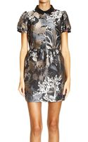 RED Valentino Dress Short Sleeve Jaquard Print Woods - Lyst