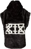 Ktz Sleeveless Hooded Logo Sweatshirt Black - Lyst