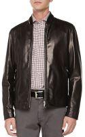 Ermenegildo Zegna Reversible Leather Jacket - Lyst