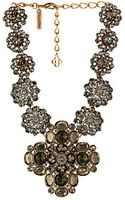 Oscar de la Renta Bold Jeweled Necklace - Lyst