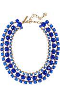 Oscar de la Renta Goldplated Crystal Necklace - Lyst