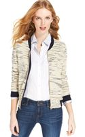 Tommy Hilfiger Marled-knit Colorblocked Zippered Cardigan - Lyst