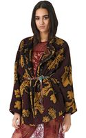 Burberry Prorsum Wool Cashmere Blend Blanket Coat - Lyst