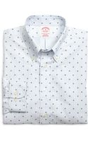 Brooks Brothers Non-iron Regular Fit Hibiscus Stripe Sport Shirt - Lyst