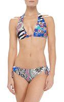 Etro Mixedzebraprint Halter Bikini - Lyst