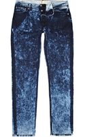 River Island Dark Wash Sprayed Flynn Skinny Jeans - Lyst