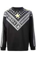 Givenchy Star Checked Sweater - Lyst