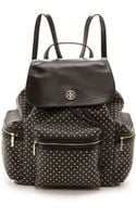 Tory Burch Kerrington Flap Backpack Black Viva Dot Mini - Lyst