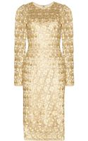 Dolce & Gabbana Metallic Macramé Lace Dress - Lyst