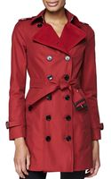 Burberry London Double-breasted Trench Coat with Felt Lapel - Lyst
