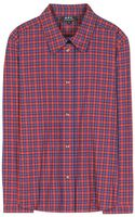 A.P.C. Mike Plaid Cotton Shirt - Lyst