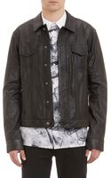 Helmut Lang Perforated Lambskin Jacket - Lyst