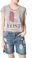 Mango Printed Tshirt - Lyst