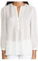 Marc By Marc Jacobs Mini Diamond Crinkle Blouse - Lyst