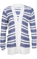 Splendid Stripe Rayon Cardigan - Lyst