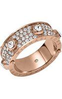 Michael Kors Rose Goldtone Crystallized Astor Ring - Lyst