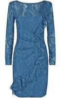 Emilio Pucci Ruffle Lace Dress - Lyst