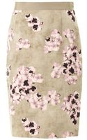 Giambattista Valli Pansyprint Pencil Skirt - Lyst