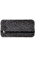 Clare Vivier Foldover Matilde Clutch in Black Laser Cut Leather - Lyst