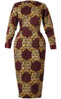 Stella Jean Katerina Printed Long-sleeved Dress - Lyst