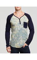Prps Goods & Co Striped Pocket Henley - Lyst