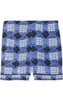 Marni Printed Silk Shorts - Lyst