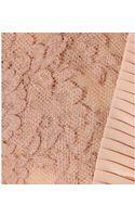 Miu Miu Lacetrimmed Crepe De Chine Dress - Lyst