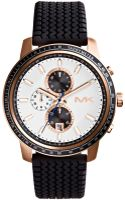Michael Kors Mens Chronograph Granger Black Silicone Strap Watch 51mm - Lyst