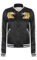 Denim & Supply Ralph Lauren Embroidered Satin Bomber Jacket - Lyst