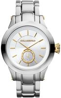 Karl Lagerfeld Stainless Steel Round Watch with Goldtone Accents - Lyst