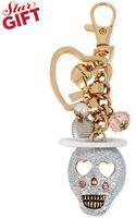 Betsey Johnson Gold-tone Angel Skull Charm Key Chain - Lyst