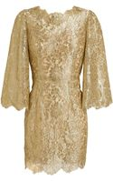 Dolce & Gabbana Metallic Lace Dress - Lyst