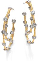 Alexis Bittar Elements Gilded Muse Dore Crystal Lace Double Hoop Earrings - Lyst