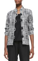 Caroline Rose Basketweave 34sleeve Boxy Jacket - Lyst