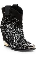 Giuseppe Zanotti Crystalencrusted Wedge Cowgirl Boots - Lyst