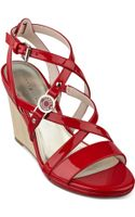 Tommy Hilfiger Womens Elizah Wedge Sandals - Lyst