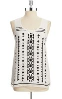 Vince Camuto Tribal Print Tank - Lyst