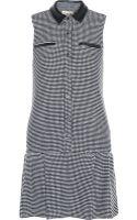 Sea Leather-Trimmed Jacquard Mini Dress - Lyst