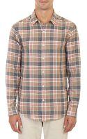 Barneys New York Plaid Shirt - Lyst
