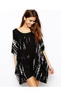 Asos Tie Dye Cold Shoulder Beach Cover Up - Lyst