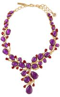 Oscar de la Renta Hyacinth Resin Branch Necklace - Lyst