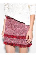 Mango Tweed Miniskirt - Lyst